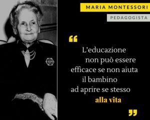 frase celebre di Maria Montessori